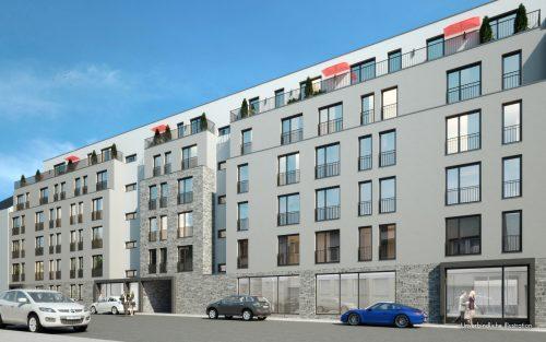Straßenansicht Alexander Apartments