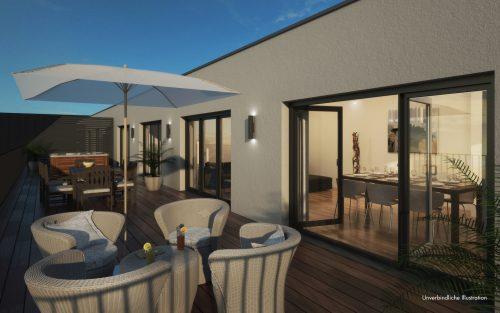 Beispiel Dachterrasse Penthouse