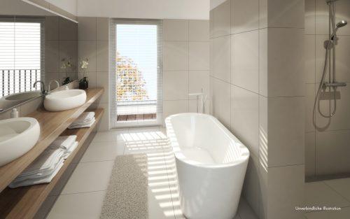 Beispiel Badezimmer Penthouse